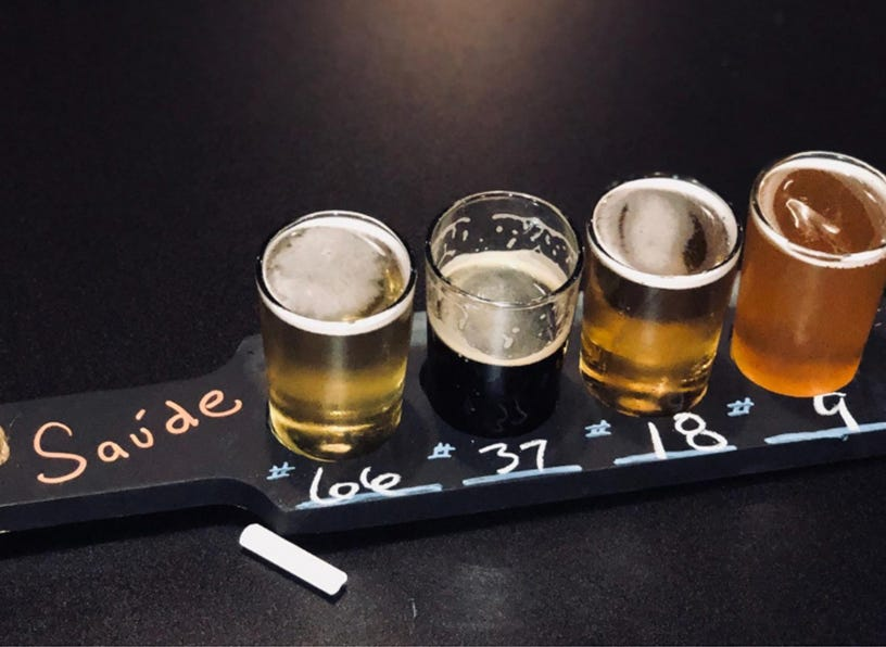 Build a taster paddle of beers from more than 70 on tap at Southern Latitudes Brewpub & Grub at Bayfront in Naples.