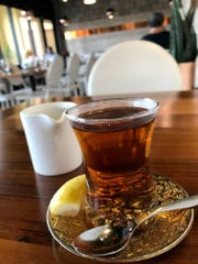 Moroccan tea from Kareem's Lebanese Kitchen in East Naples.
