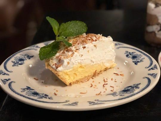 """Coconut cream pie is on Yabba Island Grill's """"3 Courses for $30 per person"""" menu."""