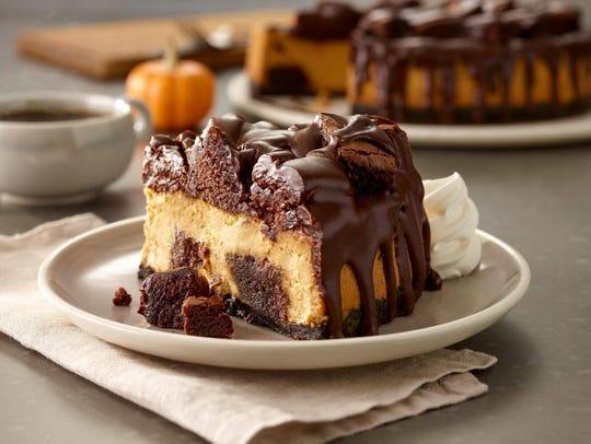 Olive Garden's latest dessert, Chocolate Chunkin' Pumpkin Cheesecake, is available until Nov. 18.