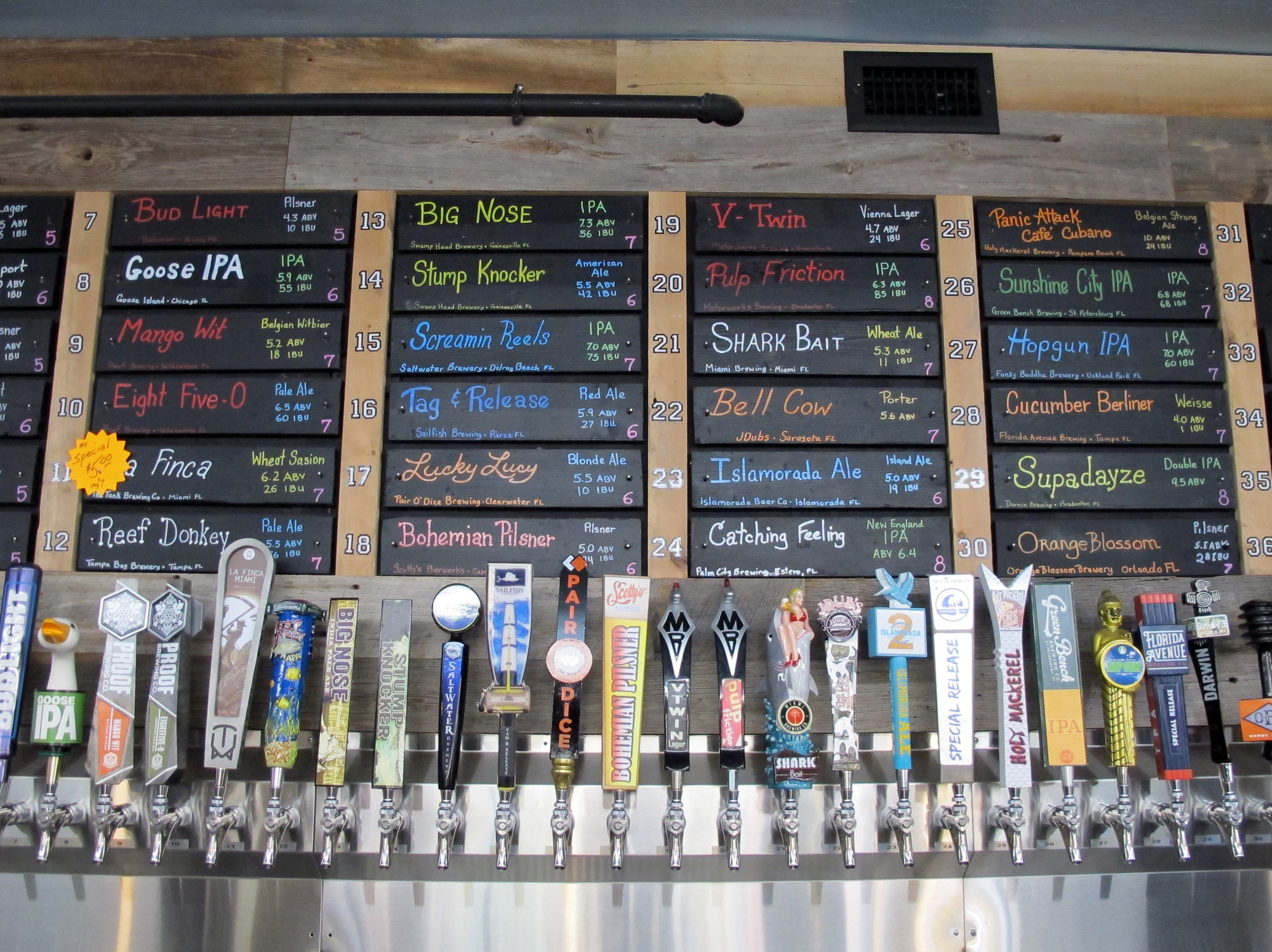 Southern Latitudes Brewpub & Grub has more than 70 beers on tap at Bayfront in Naples.