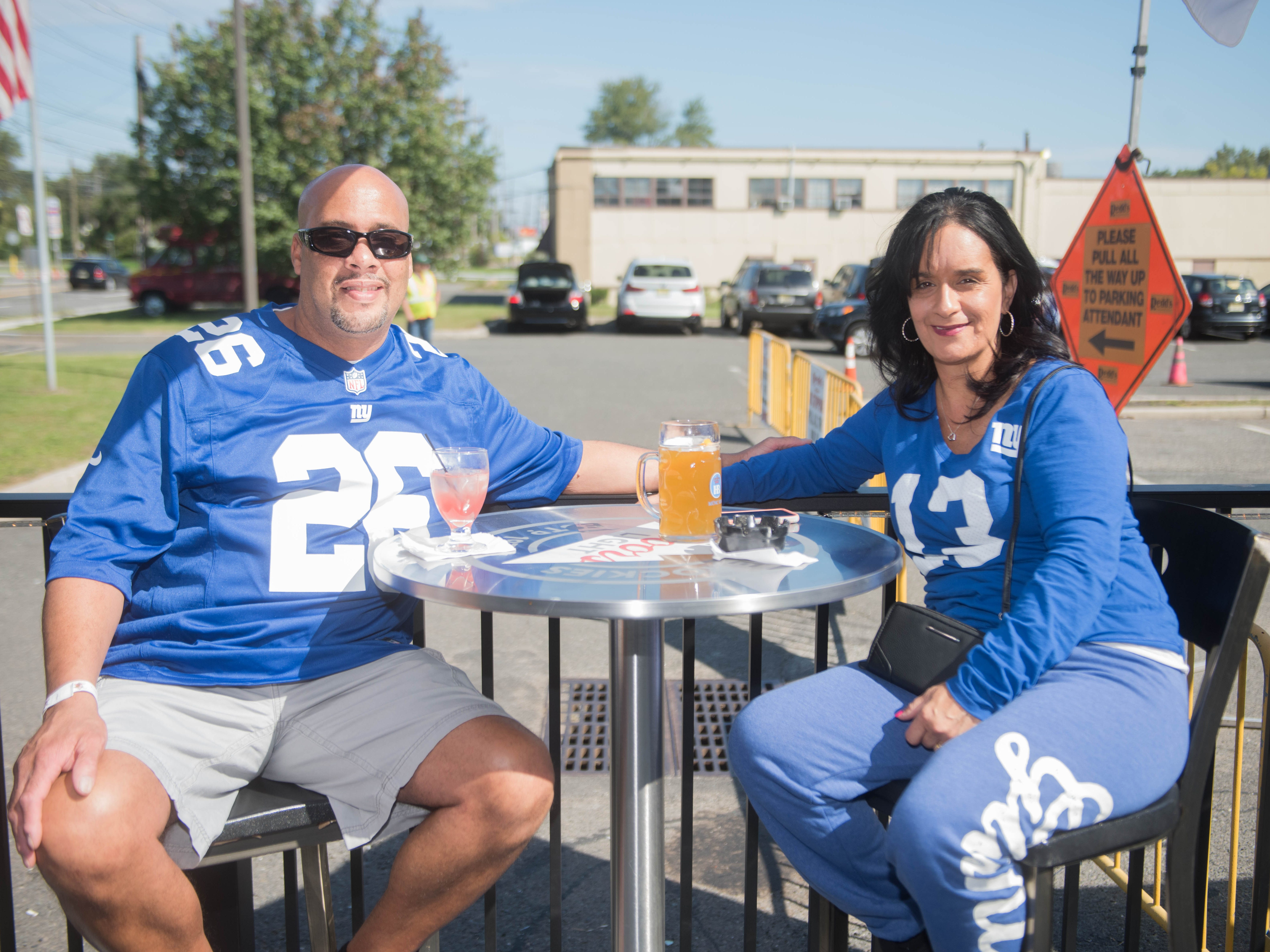 Duane Askew and Kim Askew  at Redd's before the Giants and Saints game. 09/30/2018