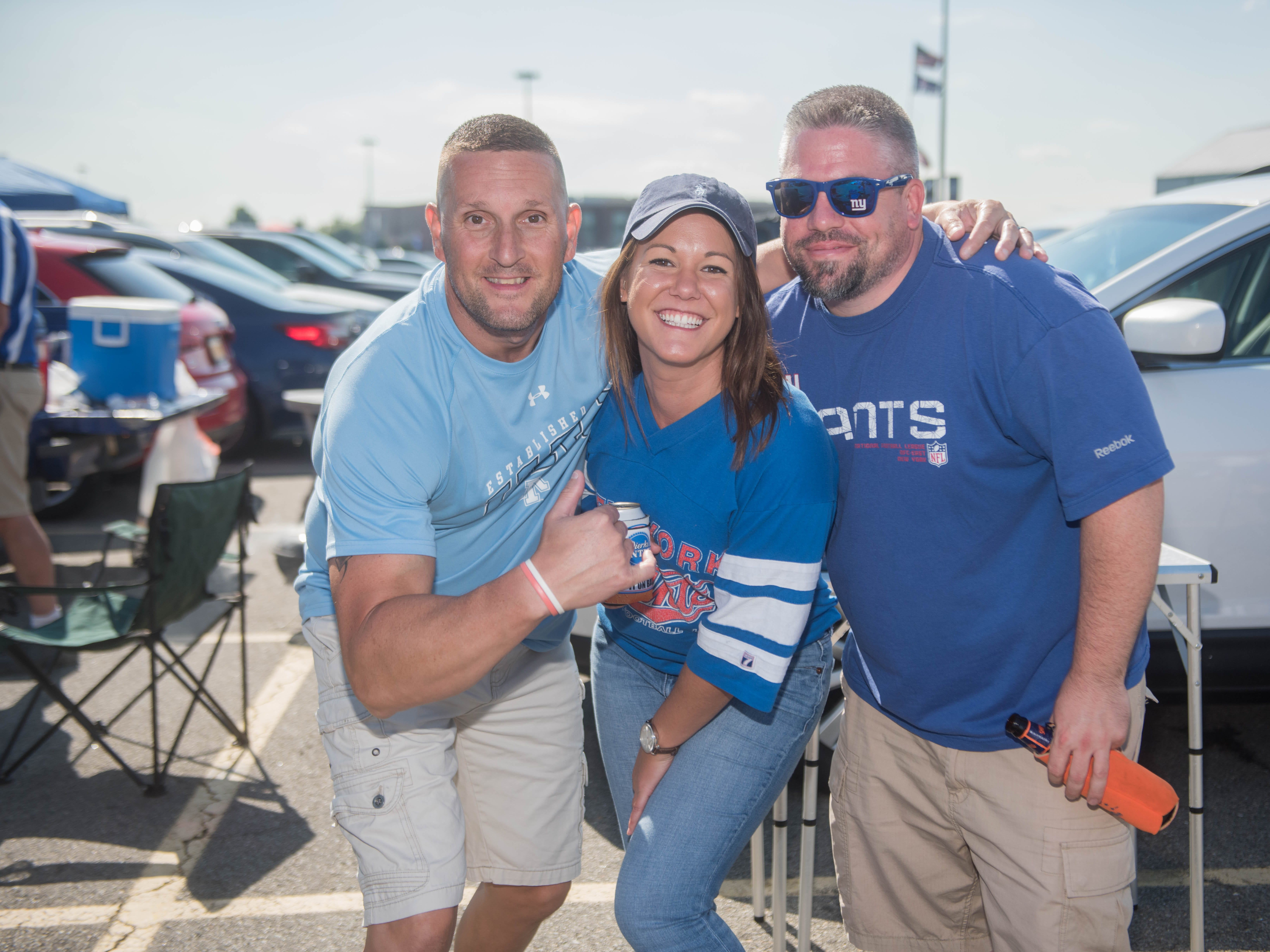 Kevin, Kerstin and Ed at the Giants vs. Saints tailgate party, Sunday, Sept. 30, 2018.
