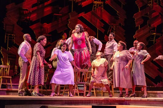 """The  Color  Purple"" at  Paper  Mill  Playhouse Carla  R.  Stewart  (Shug  Avery)   and  company."