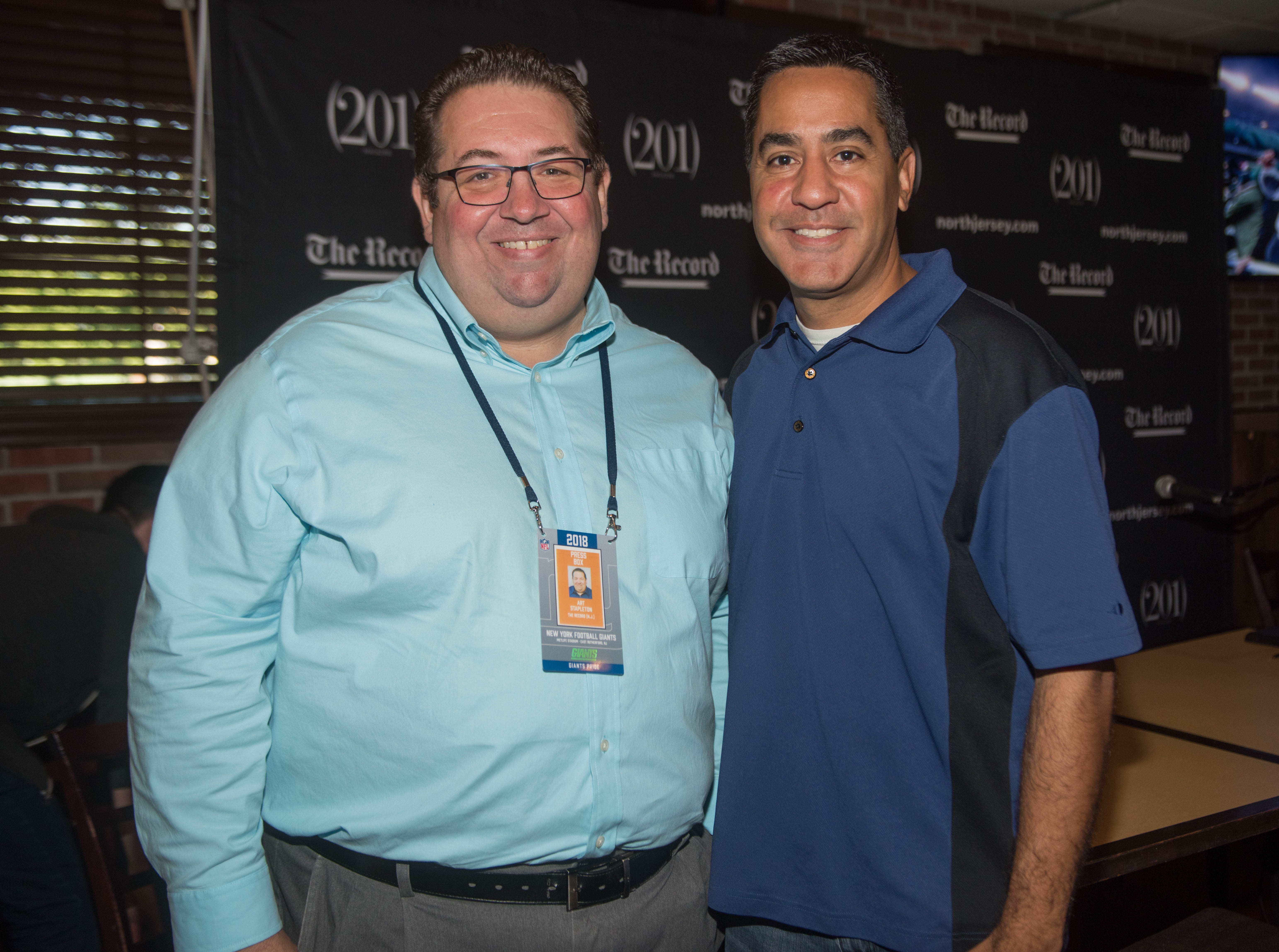 Art Stapleton and Dave Rivera. The Record sports writers Art Stapleton and Dave Rivera joined fans at Redd's to talk Giants and Saints before the game. 09/30/2018