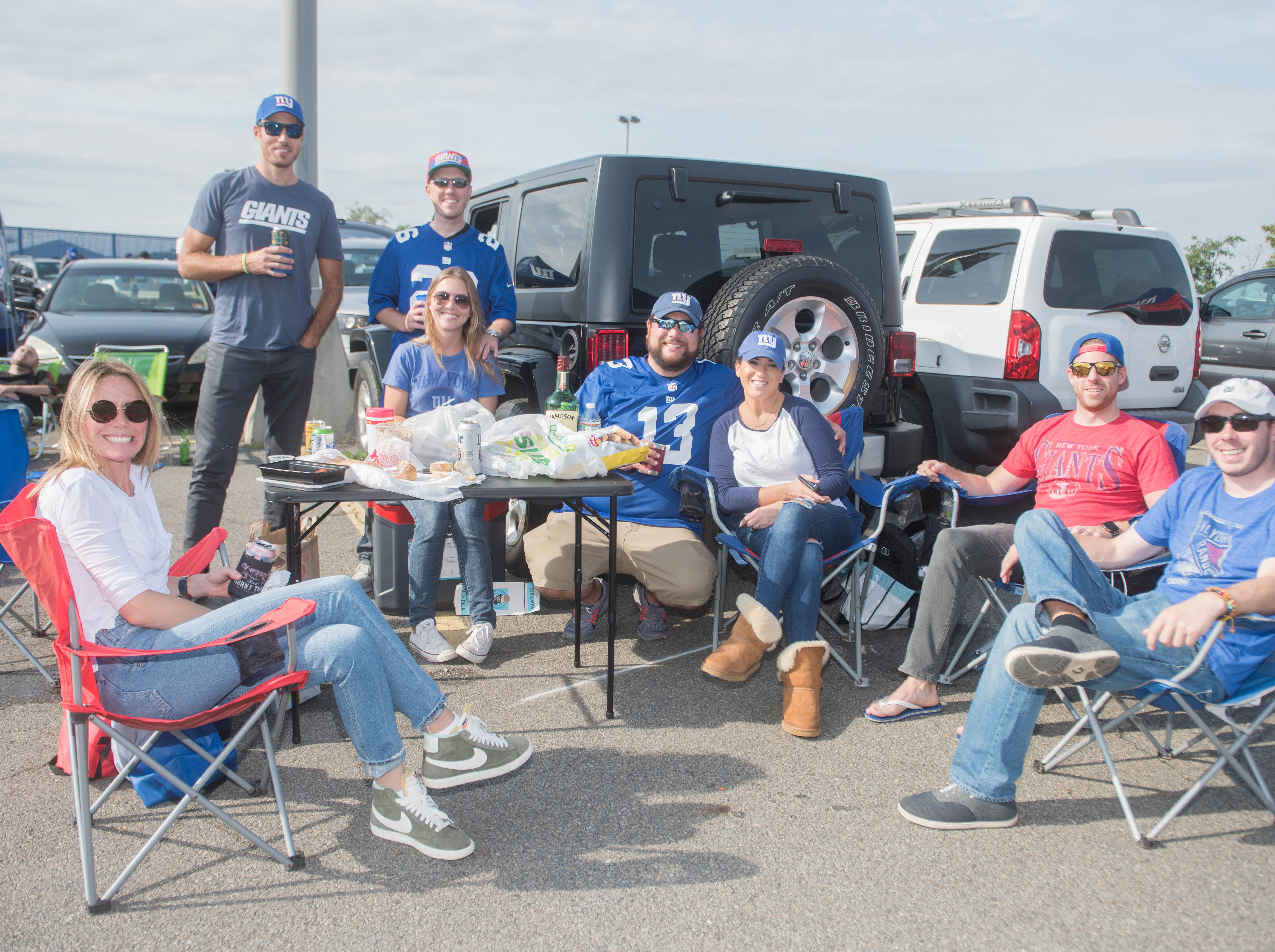Meg, Joe, Ryan, Carlie, Doug, Jessie, Chaz and Mike at the Giants vs. Saints tailgate party, Sunday, Sept. 30, 2018.