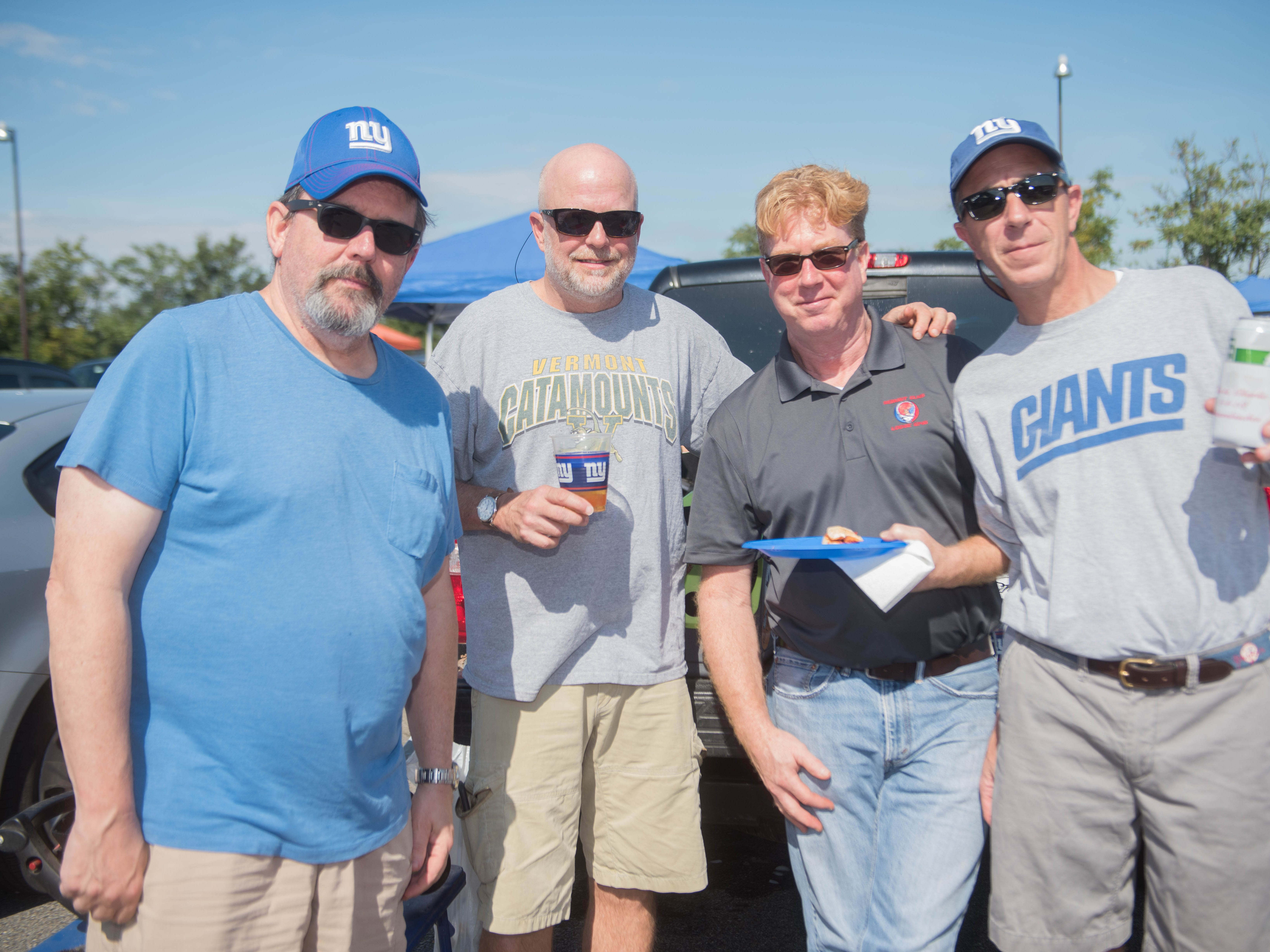 Michael, Chuck, Toby and Grant at the Giants vs. Saints tailgate party, Sunday, Sept. 30, 2018.