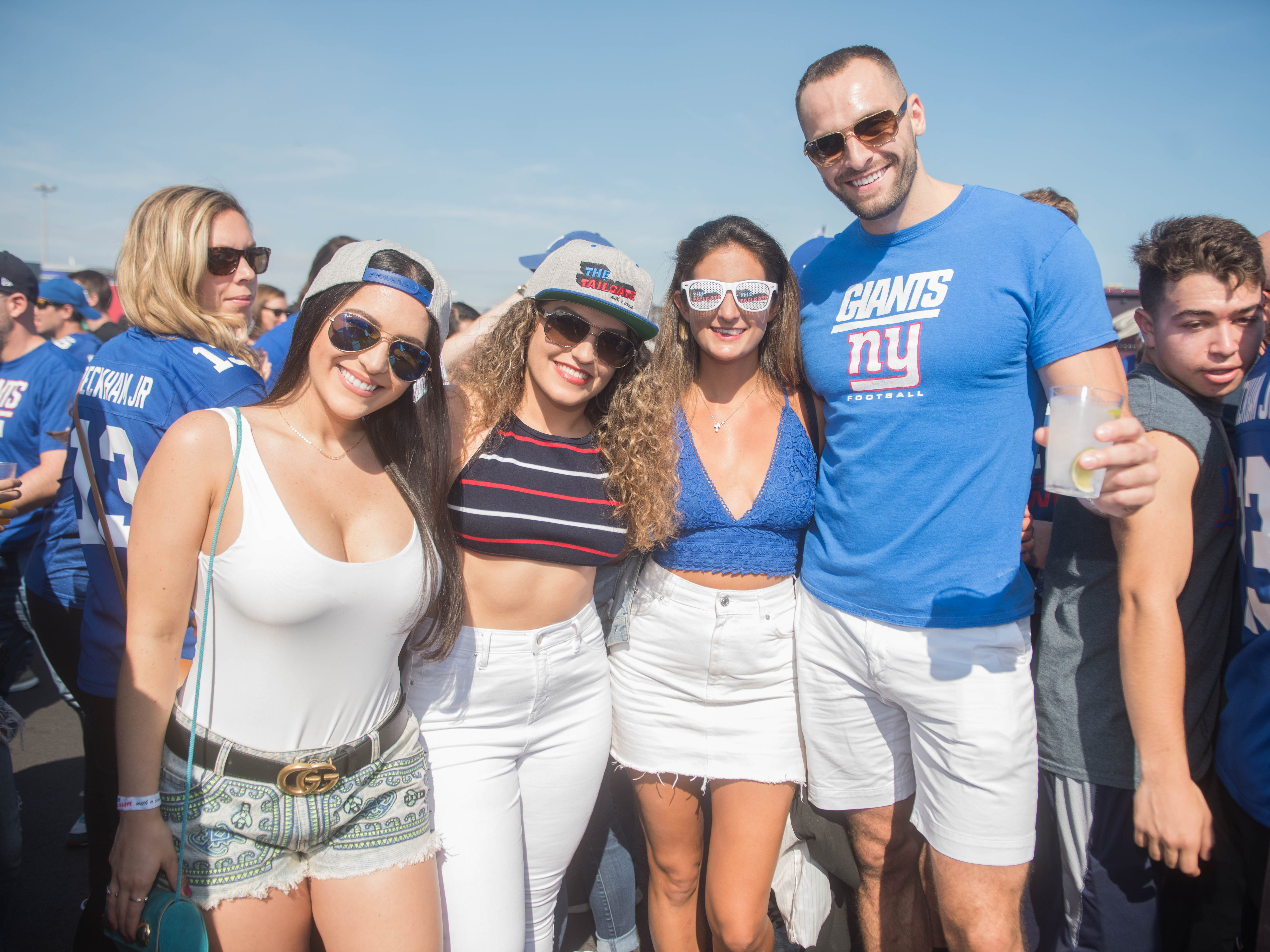 Gabriella, Marissa, Crystal and Stephen at the Giants vs. Saints tailgate party, Sunday, Sept. 30, 2018.