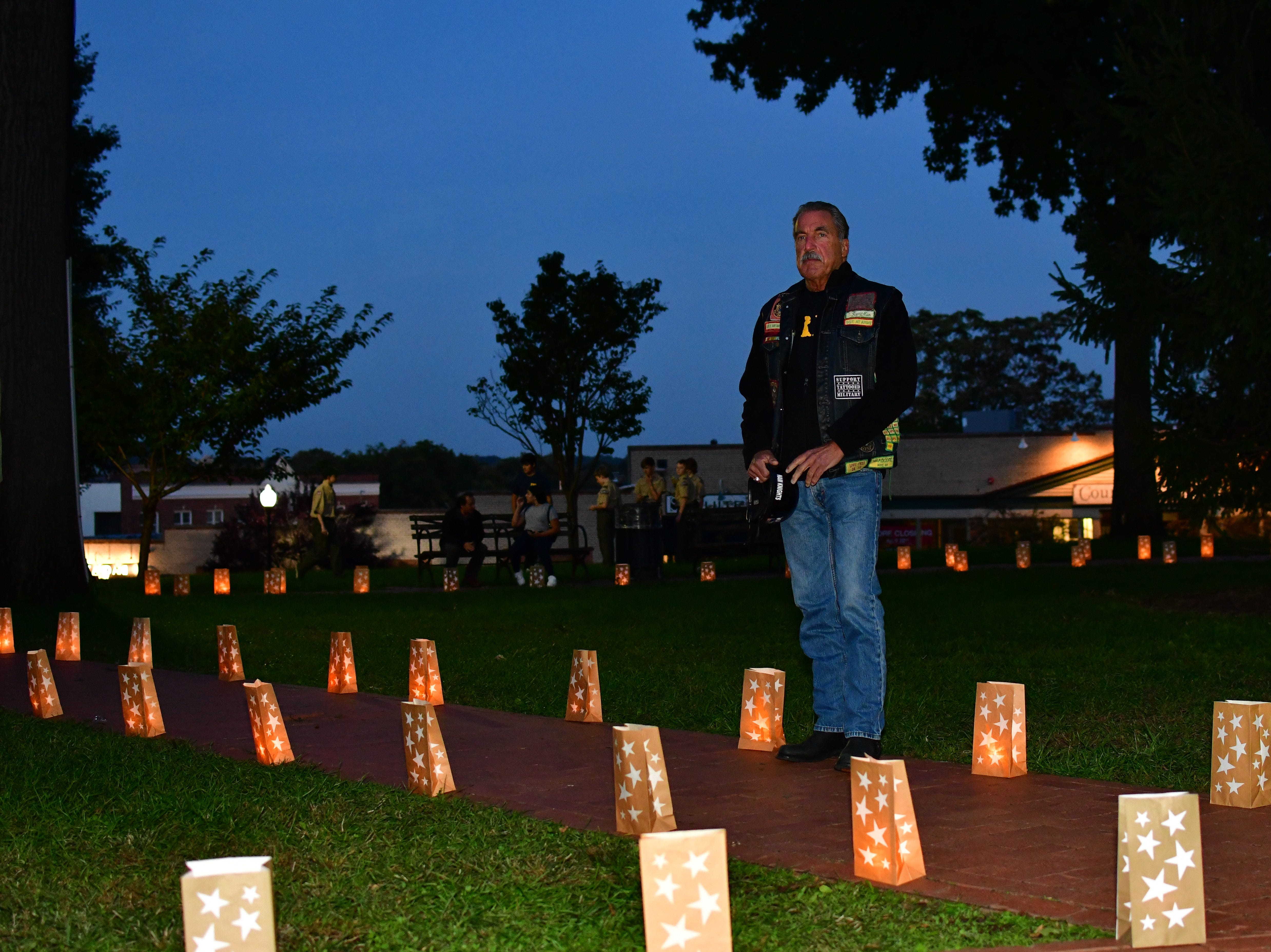 Michael Janke. The Gold Star Mother's Day Committee sponsored its eighth annual event commemorating Gold Star Mother's Day on Sept. 30, at Van Neste Park, Ridgewood. After a short ceremony, hundreds of luminaries were lit to honor Gold Star Mothers (moms who had lost sons and daughters to the war) and their families.