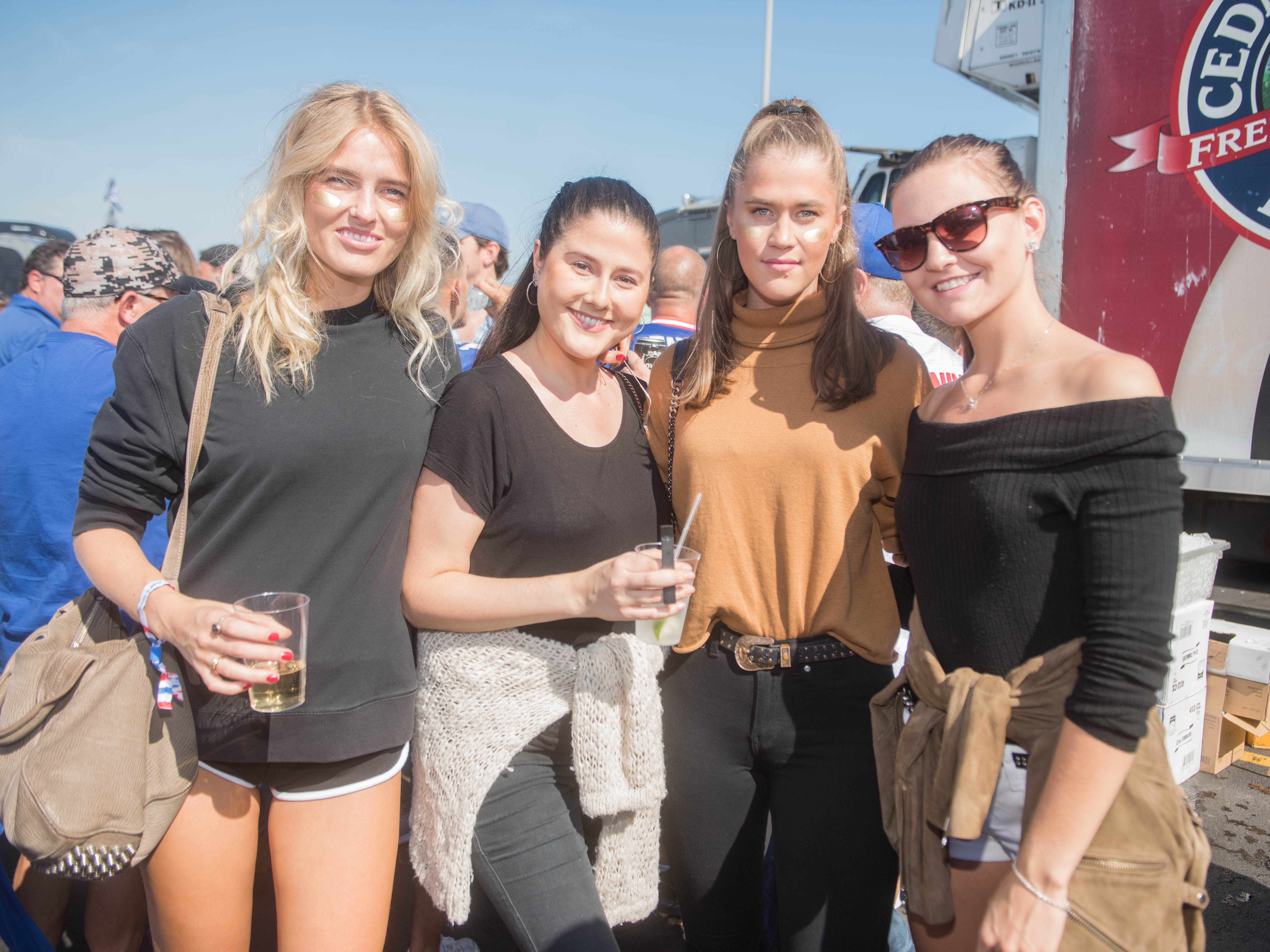 Kristin, Ivana, Cecile and Jenny at the Giants vs. Saints tailgate party, Sunday, Sept. 30, 2018.