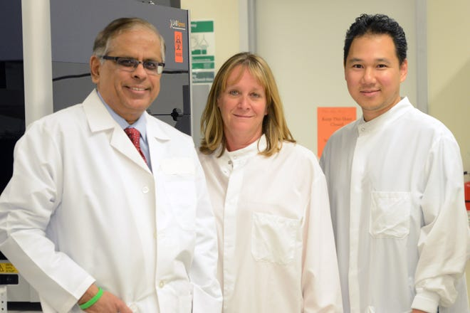 Lab director Dr. Prakash Rao, molecular specialist Heln LaCarrubba and senior lab specialist Dennis Miguel