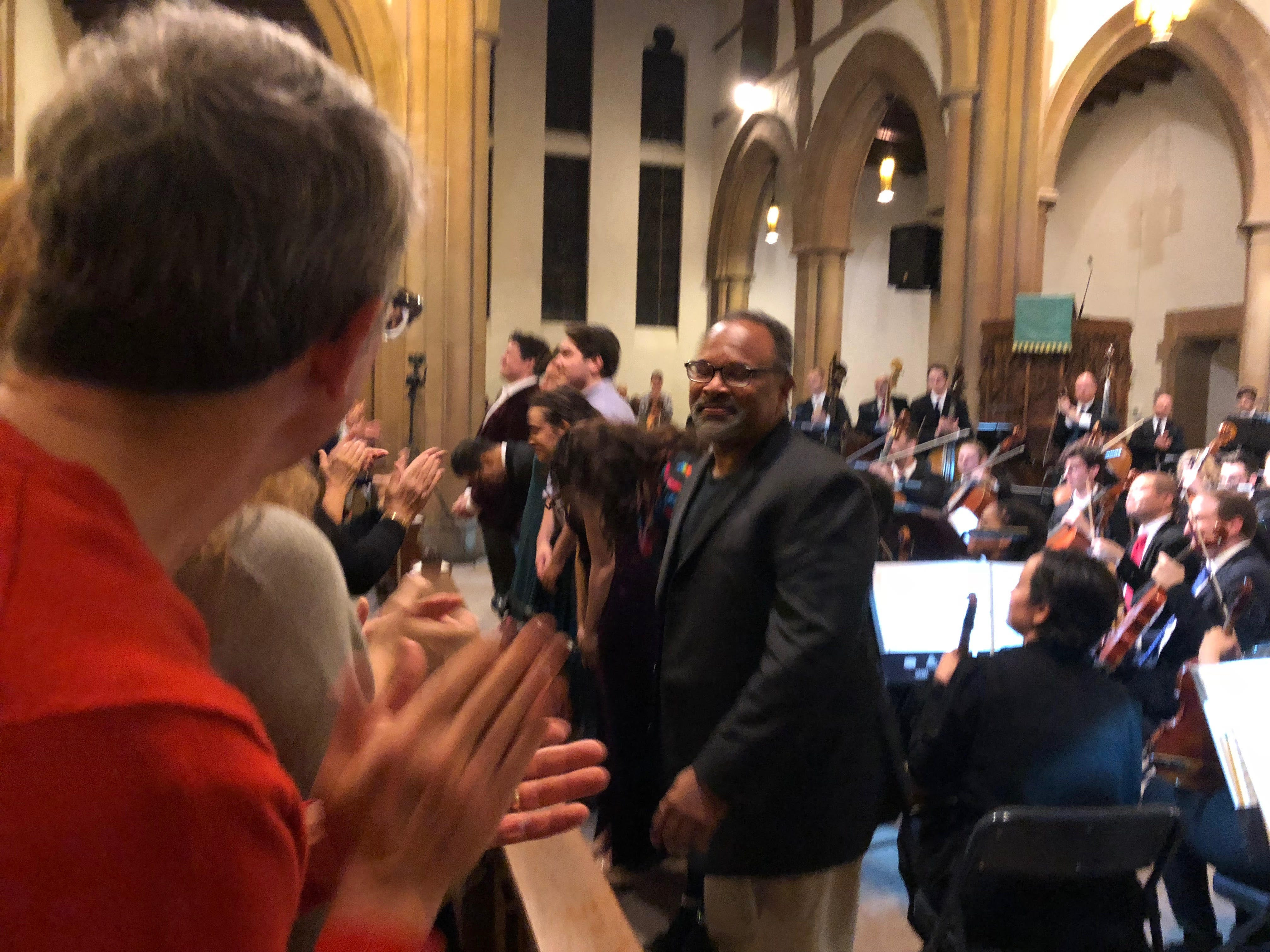 "Geoffrey Owens takes a bow at the Montclair Orchestra's ""A Shakespeare Evening."" September 30, 2018."