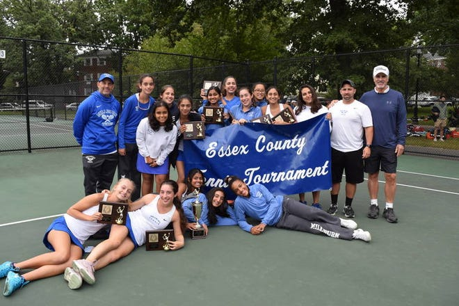 Millburn girls tennis wins its sixth consecutive Essex County tournament title.