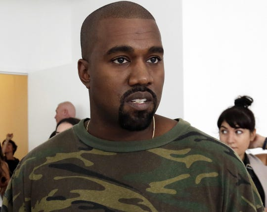 In this Sept. 10, 2015 file photo, Kanye West appears at the Brother Vellies Spring 2016 collection presentation during Fashion Week, in New York.