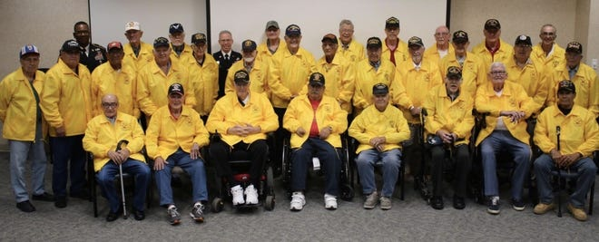 The veterans of the latest Honor Flights of South New Mexico trip prepare for take-off to Washington D.C.