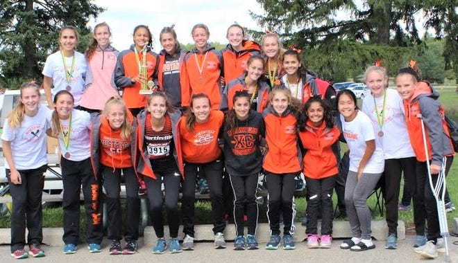 The Northville girls cross country team captured the Legends Invitational on Sept. 29 at Huron Meadows Metropark in Pinckney.
