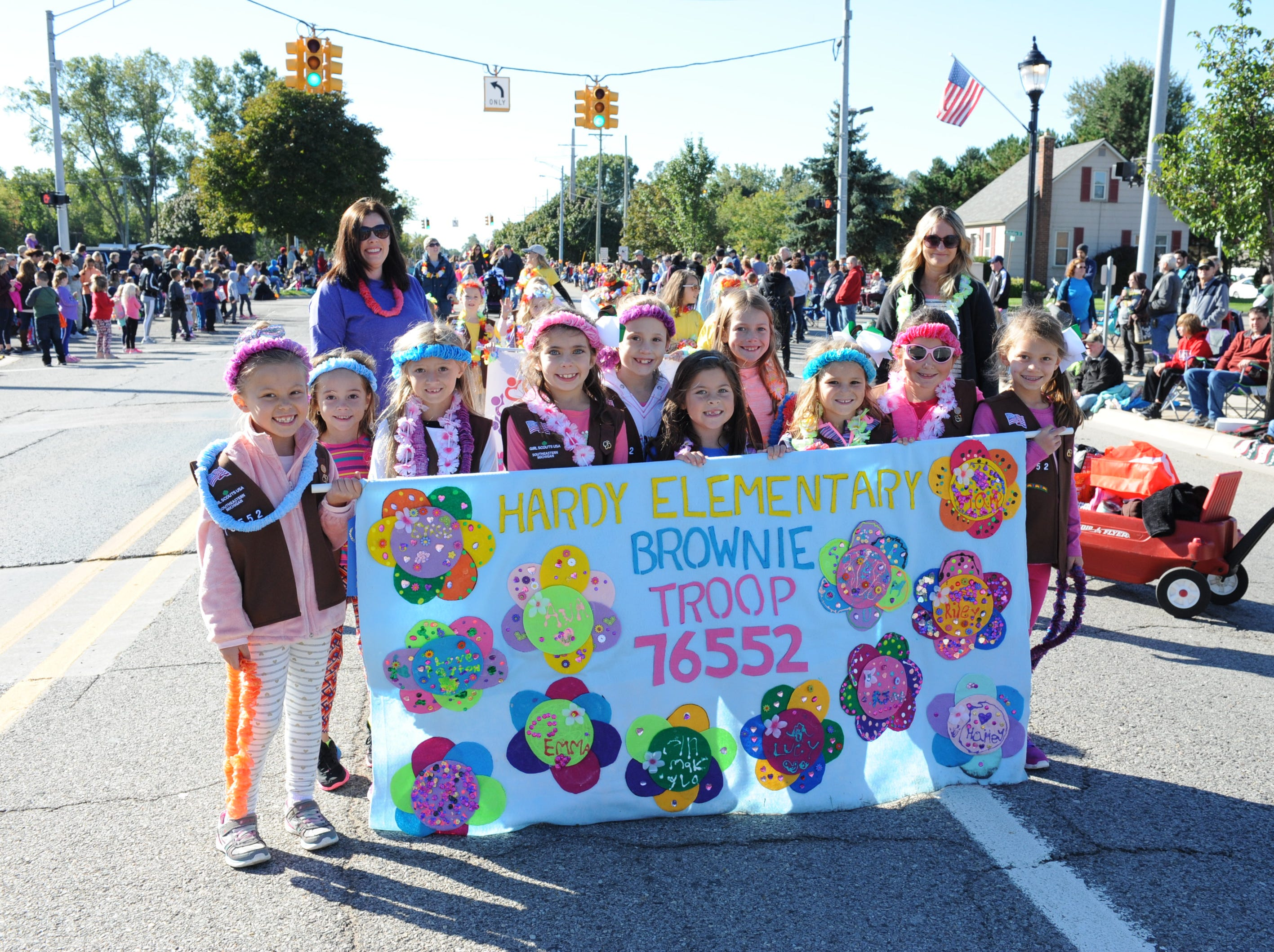 Hardy Elementary Brownie Troop 76552 are thrilled to be part of this year's parade.