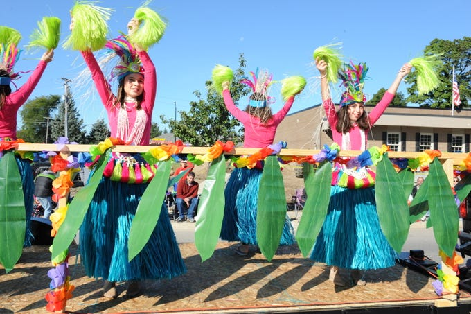 American Dance Academy dancers perform at this year's parade.