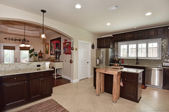 8811 Salt Grass Drive, the gourmet kitchen.