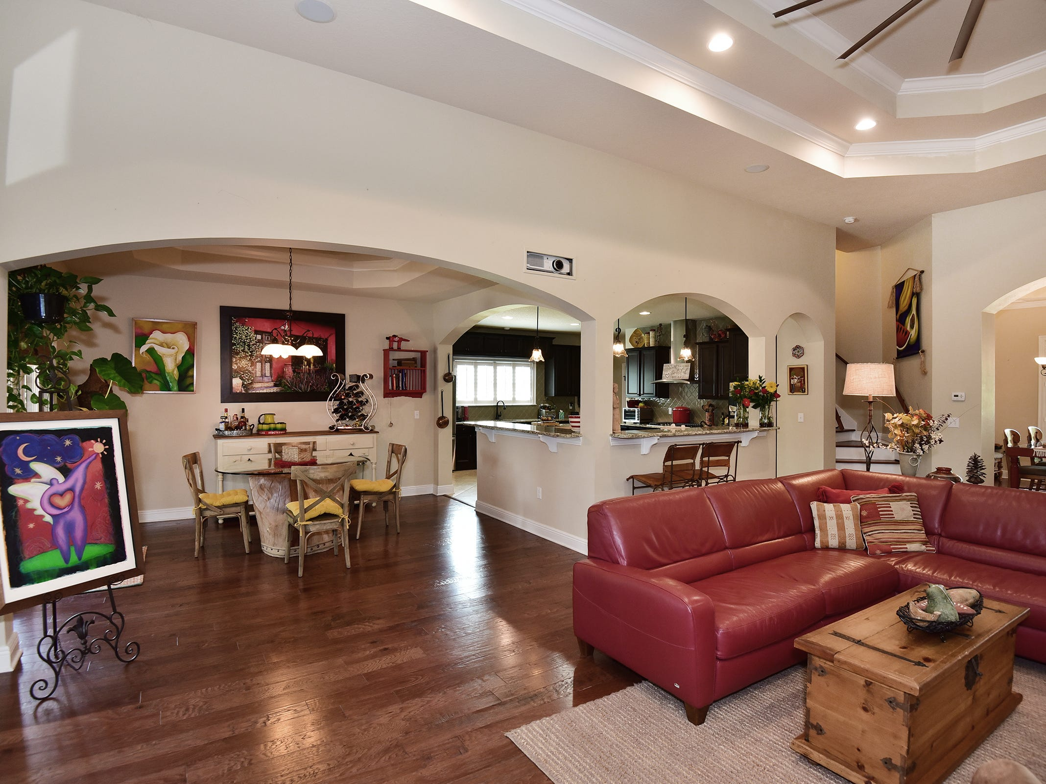 8811 Salt Grass Drive, the spacious living area.