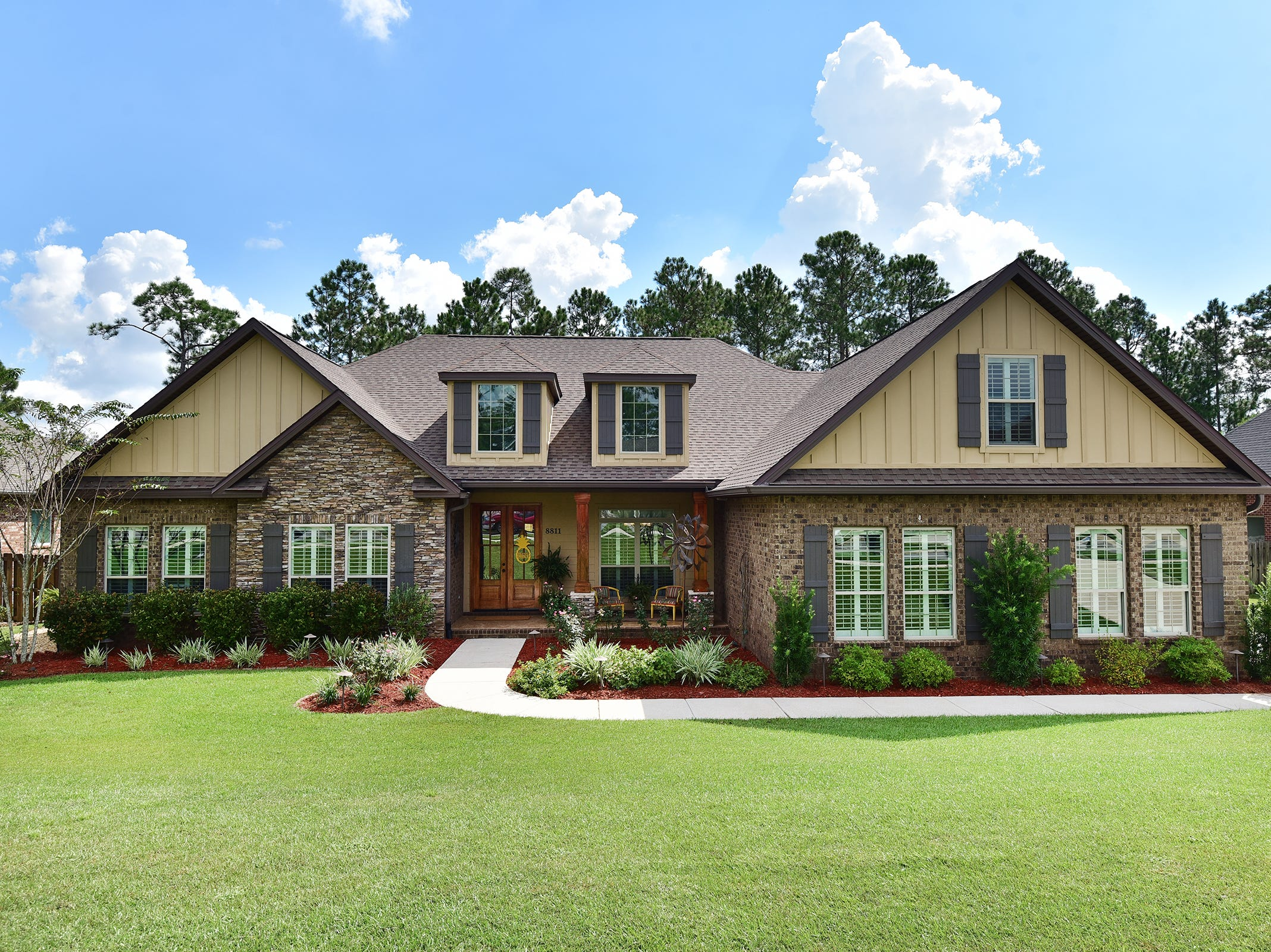8811 Salt Grass Drive, front view.