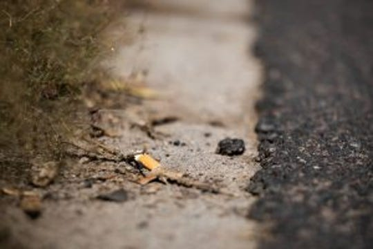 Cigarette butts are a particular problem because they're difficult to pick up and contain high amounts of poisonous chemicals that can contaminate the state's water supply