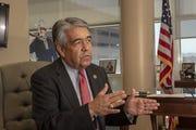 U.S. Marshal David Gonzales at his office in Phoenix.