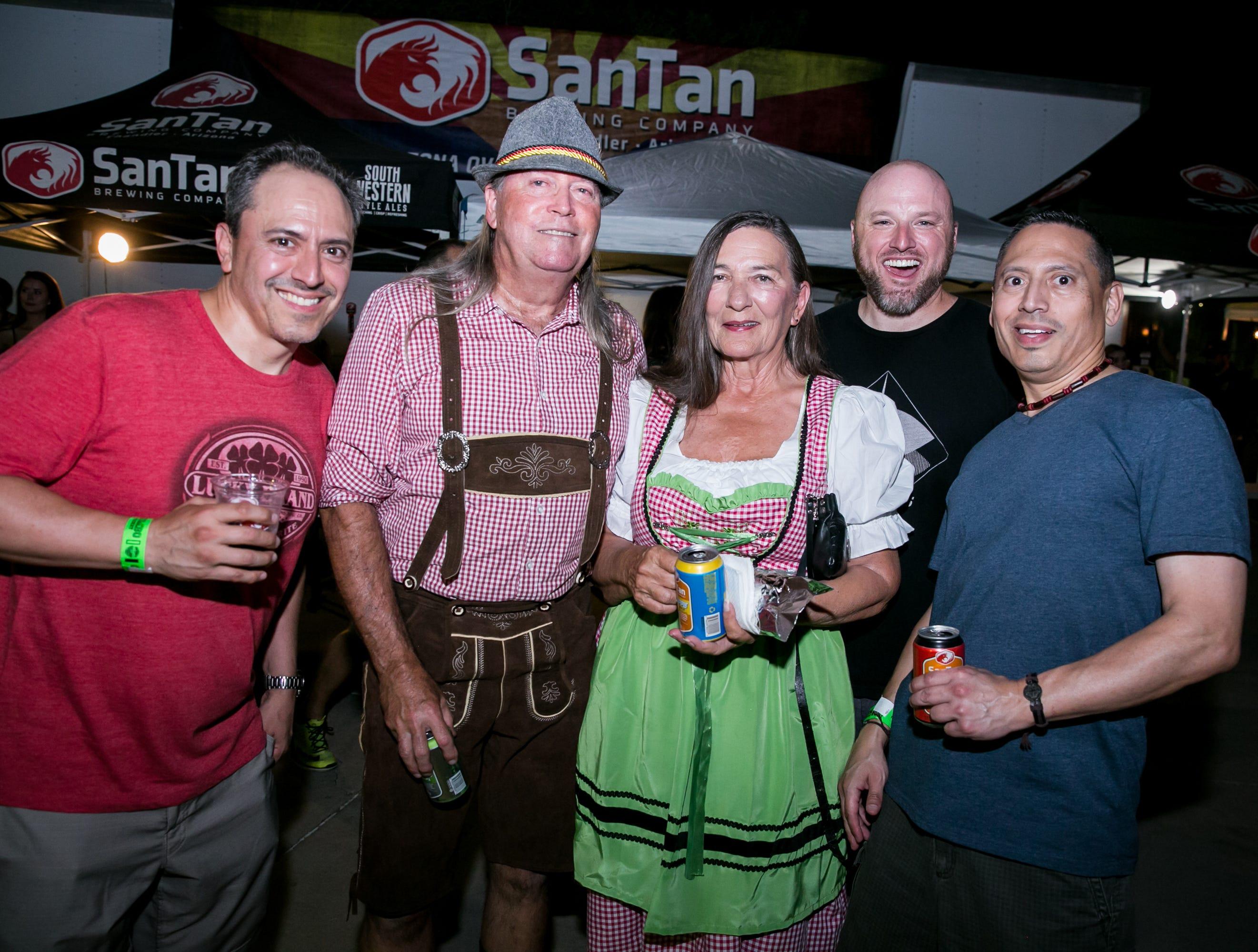 The crowd got festive during SanTan Brewing Oktoberfest at Dr. AJ Chandler Park in Chandler on Saturday, September 29, 2018.
