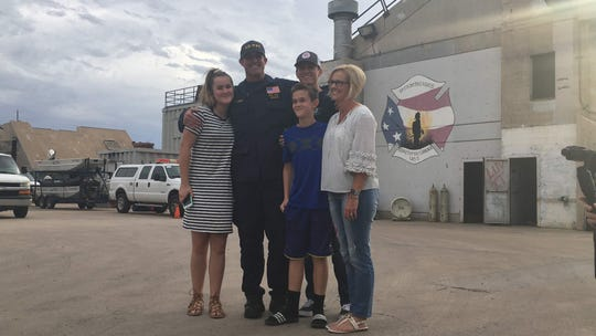 Troy Caskey had just finished a 72-hour shift with the Phoenix Fire Department when he was deployed in the wake of Hurricane Florence. On Sept. 30, 20 days later, he saw his family again.