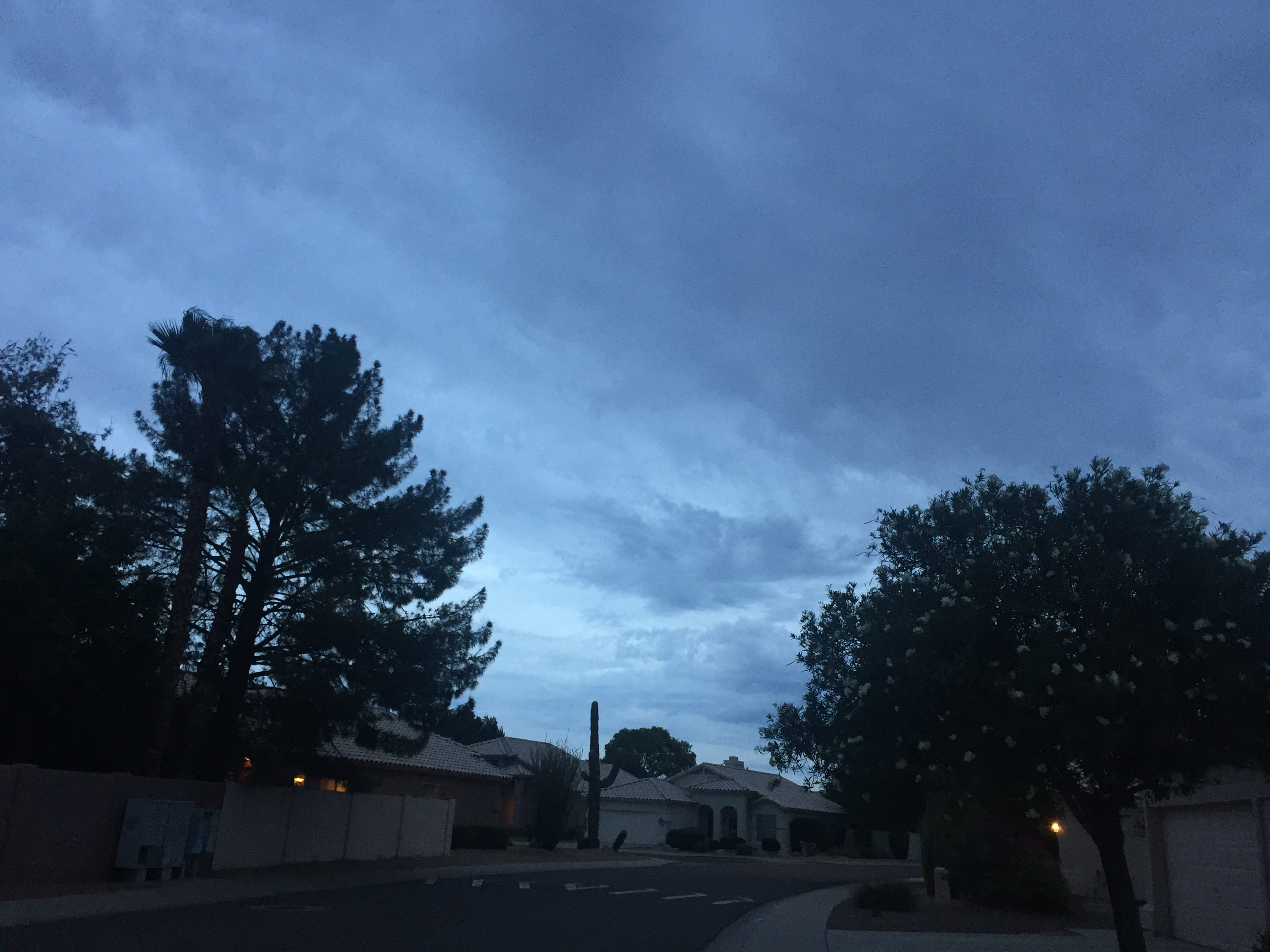 Clouds from Hurricane Rosa move into north Phoenix on Sept. 30, 2018.