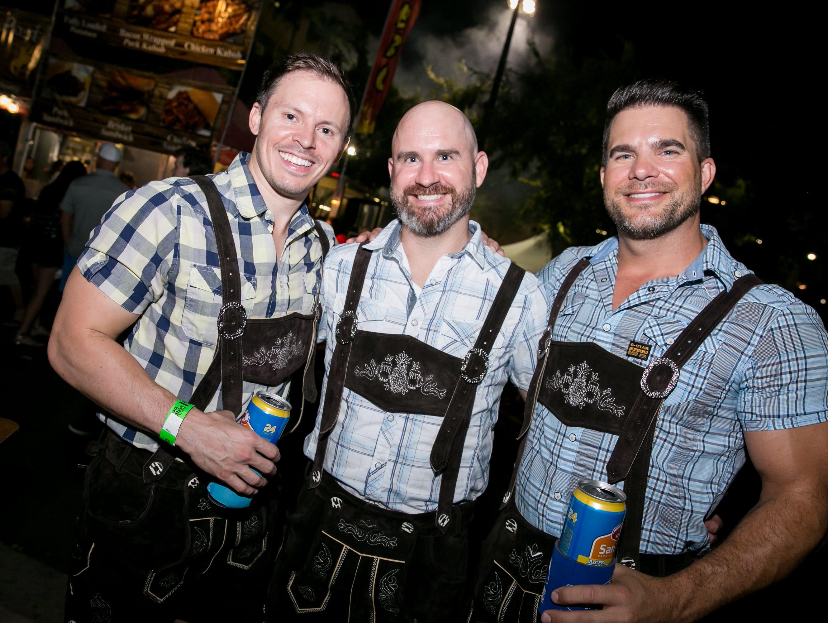 Lederhosen was a must during SanTan Brewing Oktoberfest at Dr. AJ Chandler Park in Chandler on Saturday, September 29, 2018.