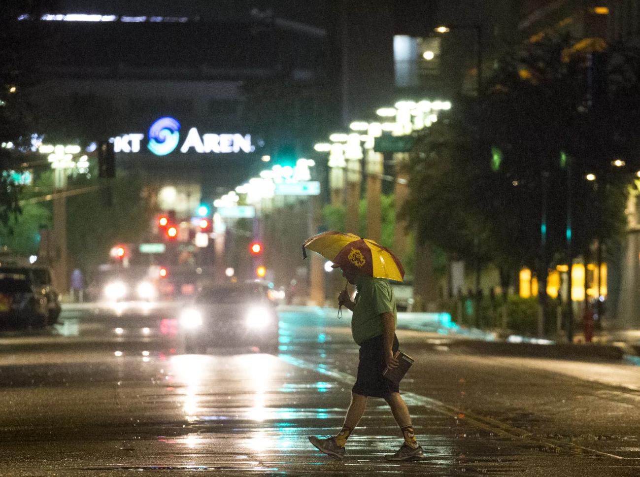 Imágenes de la llegada del clima lluvioso a Arizona el domingo 30 de septiembre, 2018, provocado por el Huracán Rosa que golpeó el norte de México, y cuyos remanentes llegaron hasta este estado.
