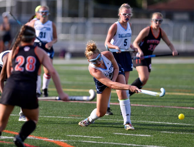 Dallastown's Natasha Milner clears the ball from in front of the goal during a game vs. Central York on Monday, Oct. 1, 2018. Both the Wildcats and the Panthers have earned berths in the District 3 playoffs. John A. Pavoncello photo