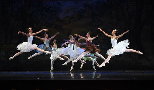 "The ballet corps for A.V.A. Ballet Theatre's 2018 production of ""Cinderella."""