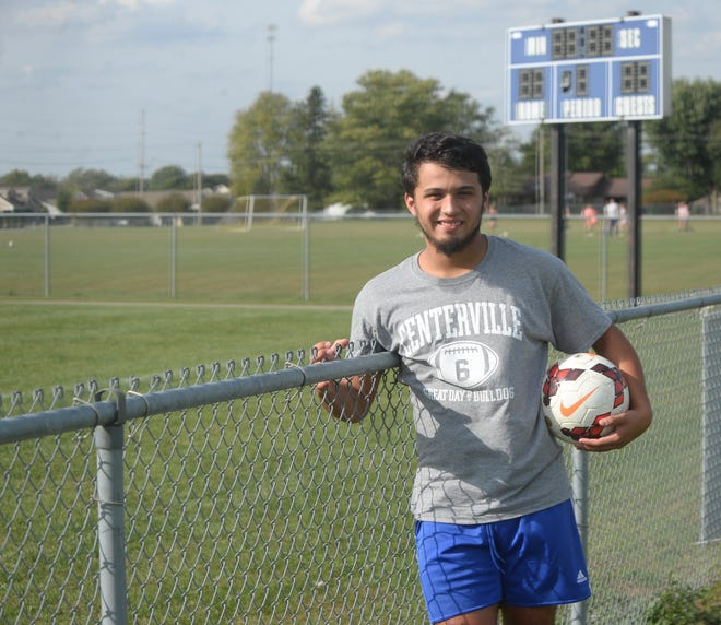 Dante Torres, a senior at Centerville High School, plays soccer and kicks for the football team.