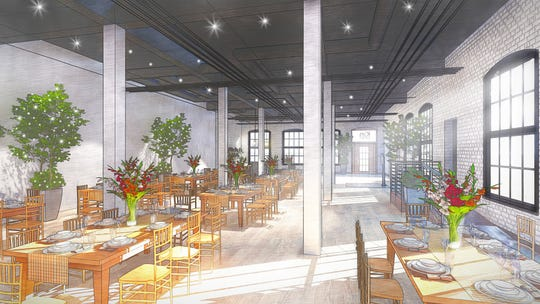 A rendering of Kin event space at 52 Sager Dr.