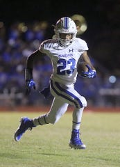 Winters' Sema'jae Jackson makes a play toward the end zone during a game in Chistoval on Friday, Sept. 28, 2018.