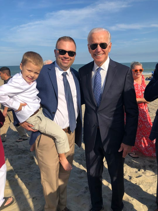 Former Vice President Joe Biden attended the wedding of former Salisbury University President Janet Dudley-Eshbach's and Joseph Eshbach's son, Joe Eshbach. Courtesy of  Janet Dudley-Eshbach.