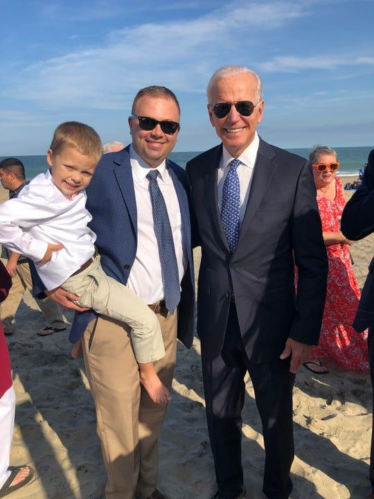 Former Vice President Joe Biden attended the wedding of former Salisbury University President Janet Dudley-Eshbach's and Joseph Eshbach's son, Joe Eshbach. Courtesy of  Janet Dudley-Eshbach.
