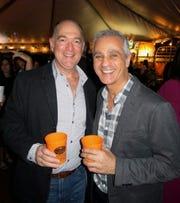 """David Miller and Artist Edward Nader at """"Celebration of Life."""""""