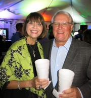"Marianne and Stafford Comegys at ""Celebration of Life."""