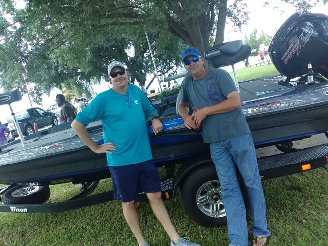 Shawn Chamberlain and Brian Hester captured the Landers Cash Splash event on Cross Lake on Saturday.