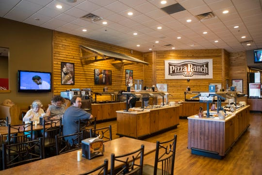 The interior of Pizza Ranch shown on Wednesday, Sept. 5, 2018 in Sioux Falls, S.D.