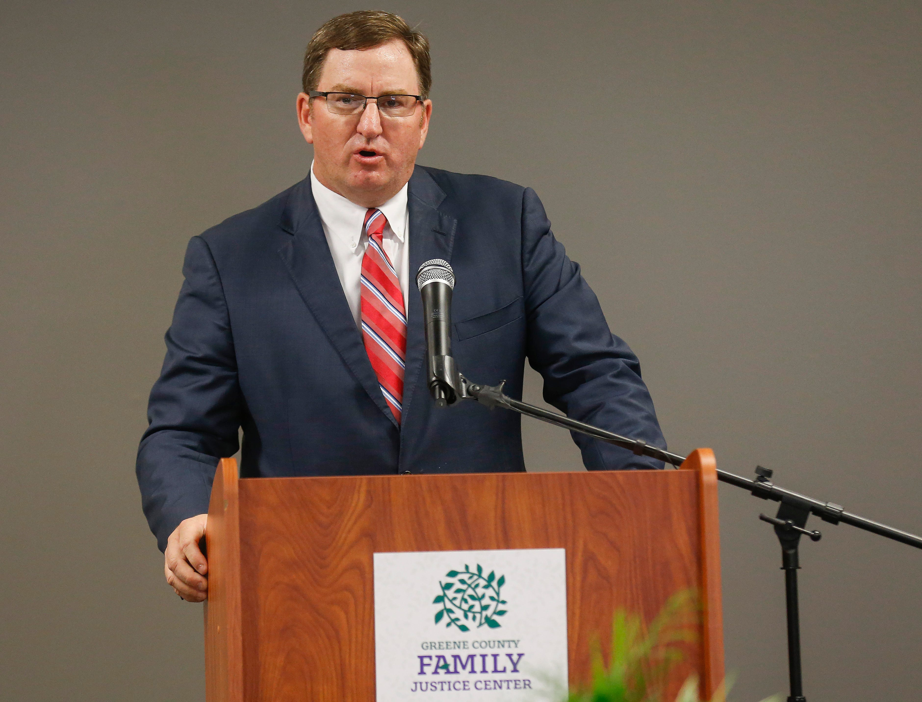 Seven months ago, Greene County Prosecutor Dan Patterson spoke at the ribbon-cutting ceremony for the Greene County Family Justice Center. On Tuesday, he addressed the Springfield school board.