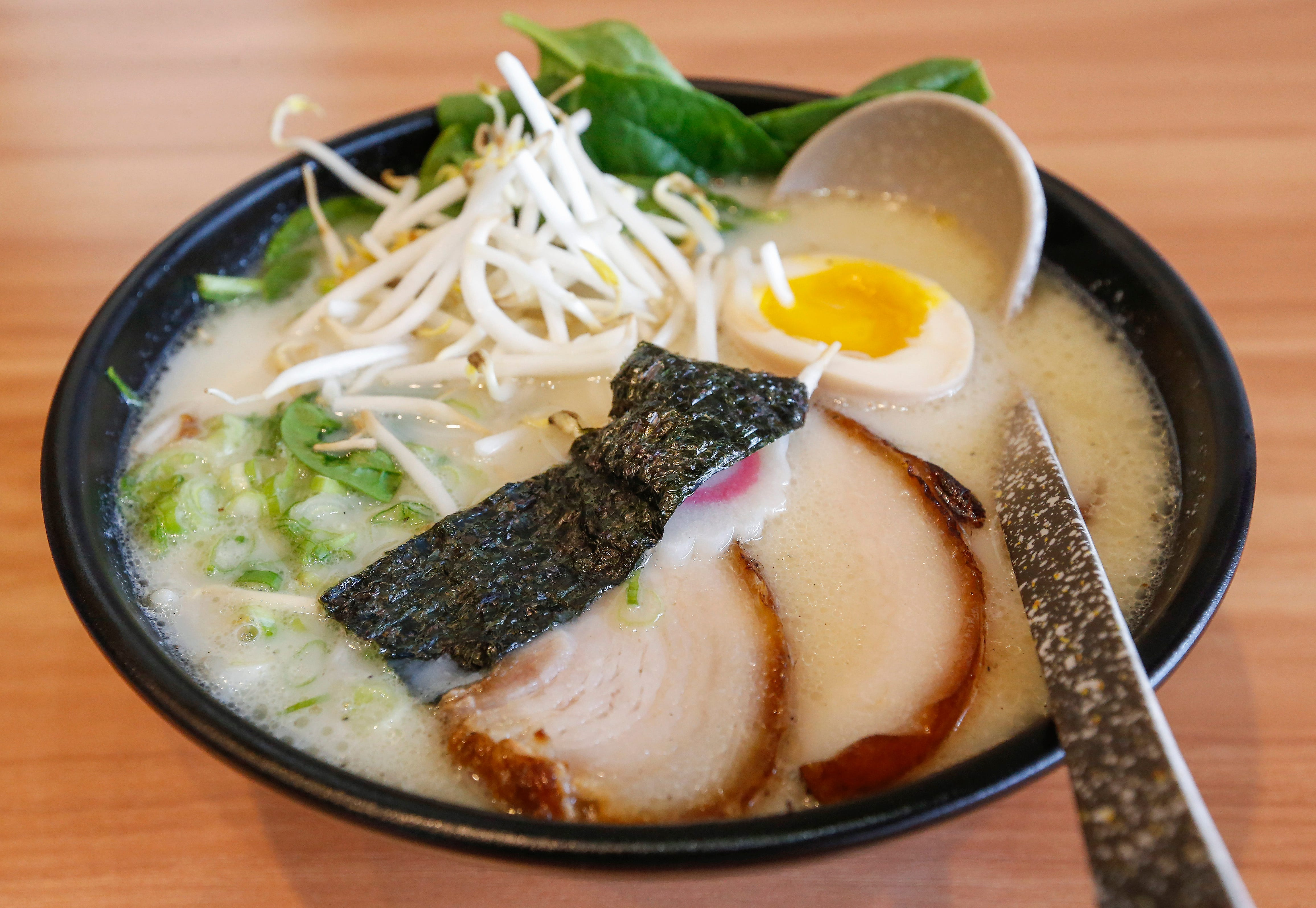 The pork ramen at Kuma Japanese Ramen & Sushi, which is located at 3405 E. Battlefield Road.