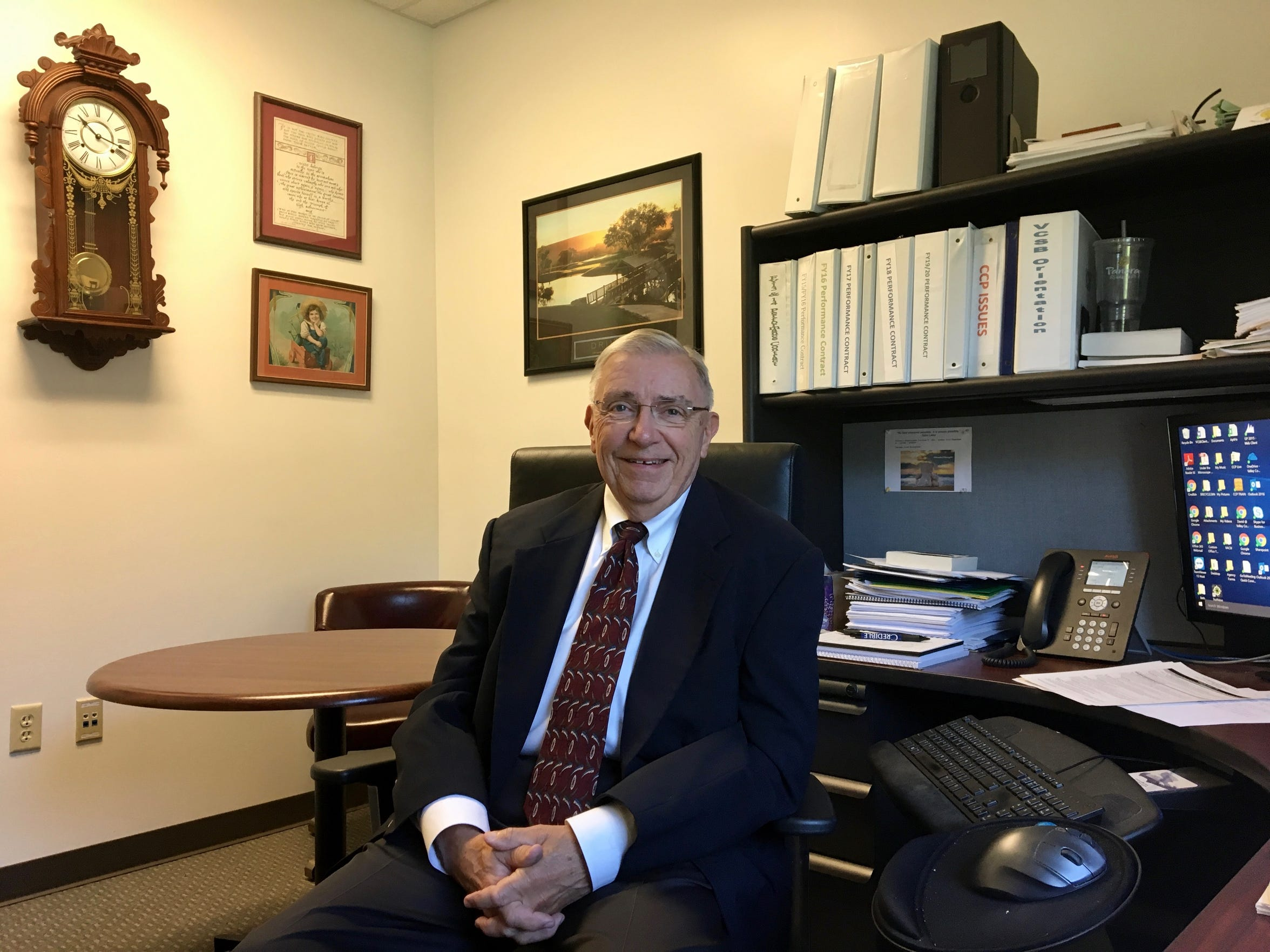 Photographed in his office on Monday, Oct. 1, 2018, David Deering, excecutive director of Valley Community Services Board in Staunton, talks about the severe shortage of child psychiatrists and state-owned child psychiatric facilities in Virginia.