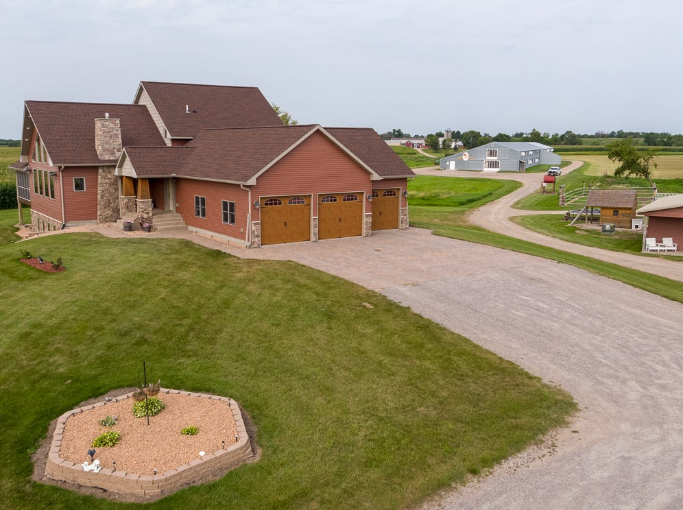 The 34-acre property includes acres to plant your own field of dreams and a dedicated horse area and chicken barn to cultivate your love of animals. The grounds also hold an over-sized garage with in-floor heat, a heated pole barn and a shed that is perfect for woodworking or any number of hobbies.