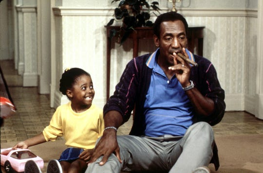 "A scene from the show ""The Cosby Show"" with Kesha Knight Pulliam and Bill Cosby in 1998."