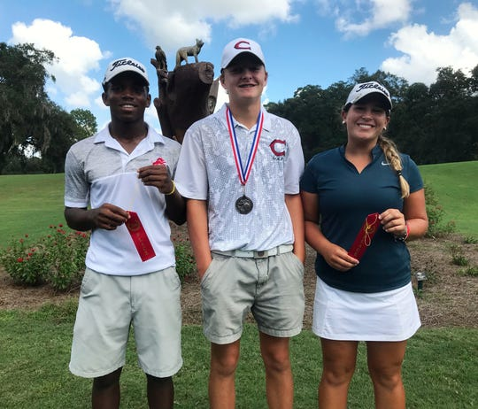 Leon junior Marquis Taylor (71), Chiles freshman Parker Bell (65) and Aucilla Christian senior Megan Schofill (71) were the top three at the Boys golf City Championship at Hilaman Golf Course on Monday, Oct. 1, 2018.