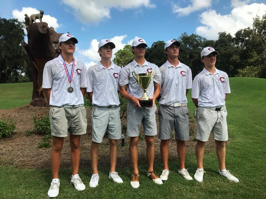 Behind freshman Parker Bell's 7-under par 65, Chiles' boys golf team won the boys golf City Championship at Hilaman Golf Course on Monday, Oct. 1, 2018.